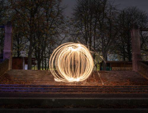 Abstrakt Lichtkreis I