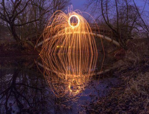 Abstrakt Lichtkreis III