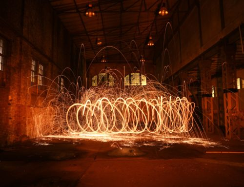 Abstrakt Lichtspirale