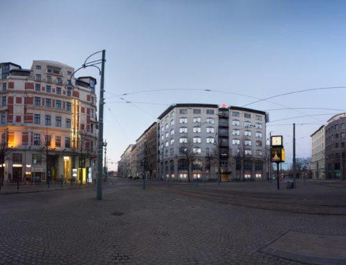 Magdeburger Hasselbachplatz am Sonntagmorgen – 2014 (360°)
