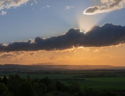 Sonnenuntergang im Harzvorland